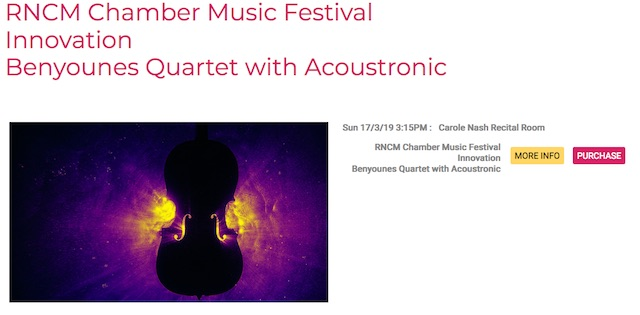 Acoustronic and Benyounes Quartet perform Frank Lyons